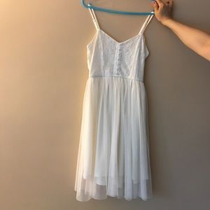 URBAN OUTFITTERS SUMMER GRADUATION WHITE DRESS